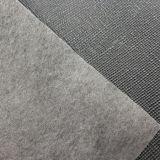 Cuir artificiel de vente chaud d'unité centrale avec la texture de Croix-Point pour le matériau de tissu de sacs