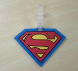 Etiqueta plástica promocional del equipaje 3D del PVC de la alta calidad (LT-048)