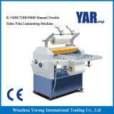 Máquina que lamina de la película doble manual de las caras de la serie del precio de fábrica K con Ce