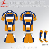 Healong kundenspezifische Sublimation-Druck-Jersey-Rugby-Uniform