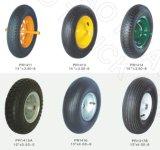 ゴム製車輪、PUの泡の車輪、平らな車輪、固体車輪、手押し車の車輪