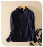 Кашемира Knitwear типа повелительниц пальто кардигана ретро чисто с Single-Breasted длинним Turtle-Neck втулки