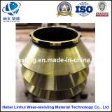 Kegel-Filterglocke-/Kegel-Zerkleinerungsmaschine-Teil konkav und Umhang