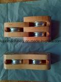 Bloco de fragmento de conversa de madeira da polia dobro ou da polia tripla para a corda do cânhamo