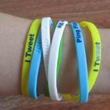 Qualität Plastic Promotional 3D Silicon Gift Slap Bracelet (SB-008)