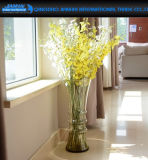 Vaso alto di vetro del fiore della cristalleria della decorazione di bellezza