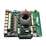 Cartão-matriz do guarda-fogo do LAN do RAM 6 da fonte de alimentação DDR3 de DC12V com o processador de Celeron J1900