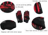 完全な指の自転車のパッディングの試しの手袋を循環させるスリップ防止ケイ素