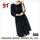 卸し売り女性純粋なカラー方法不足分の袖の服