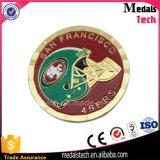Изготовленный на заказ хороший мягкий футбол золота эмали резвится монетки сувенира металла