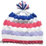 Sombrero hecho punto cabrito del sombrero de la gorrita tejida del sombrero del telar jacquar de POM POM