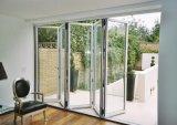 Puerta de plegamiento de aluminio de Pnoc080338ls con el vidrio helado