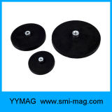 Magneti rivestiti di gomma del POT di vendita del neodimio caldo del diametro 66mm con la vite