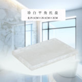 Het creatieve Witte Witte Acryl Dienende Dienblad van het Marmer/van de Parel