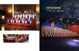 [فيب] ساحة [ركلينر] أريكة منزل سينما كرسي تثبيت مع [أوسب] حشوة فيلم كرسي تثبيت جلد أريكة