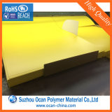 Желтый твердый лист PVC для визитной карточки печатание