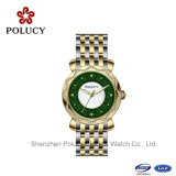 Het slanke Horloge van de Dames van de Riem van het Leer van de Mode van de Manier van het Roestvrij staal Echte