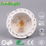 5W MR16 bombilla LED Spotlight regulable Lámpara COB chip LED