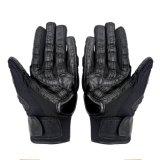 De Tactische Handschoenen van de Veiligheid van de politie met het Materiaal van het Leer