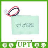 Batterie de téléphone sans fil de paquets de batteries rechargeables/cellules de Ni-MH NiMH 3.6V 600mAh aa