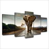 HDはアフリカ象の景色のグループの絵画部屋の装飾プリントポスター映像のキャンバスMc127を印刷した