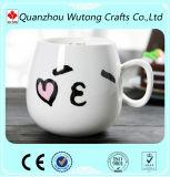 Matériau en céramique de Morcelain de tasse drôle faite sur commande d'emoticon