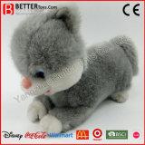 Gatto realistico di Grey del giocattolo della peluche dell'animale farcito En71