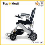 Sillón de ruedas eléctrico plegable ligero China de la potencia del equipamiento médico de Topmedi