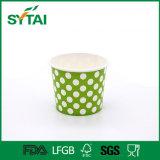Taza de papel disponible al por mayor para el helado