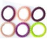 Vários acessórios do cabelo do cabo de telefone da cor contínua das cores