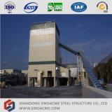 Planta de mistura concreta da estrutura elevada do frame de aço da ascensão
