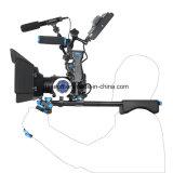 아BS 손잡이 영상 DSLR 비디오 촬영기를 위한 보편적인 사진기 어깨 마운트 의장