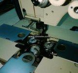 Máquina de coser del punto de cadeneta triple de la aguja