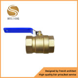 Válvula de esfera Dn40 do aço inoxidável da maneira do fornecedor 2 de China