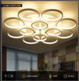 Plafond van acryl LEIDENE Lichten van het Lichte Ronde Acryl Lichte LEIDENE Utra de Dunne