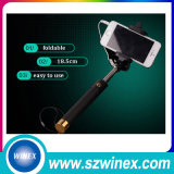 Bâton de câble se pliant de Selfie Monopod avec le miroir de Rearview