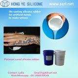Borracha de silicone líquida curada platina para fazer o tatuagem artificial do corpo