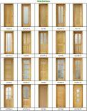 Porte intérieure française moderne en bois solide de chêne (porte en bois solide)