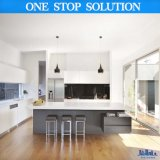 Moderne hohe Glanz-Ende-modulare Möbel-Küche