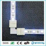 Connecteur faisant le coin de la lumière de bande de DEL 3528 aucune soudure L clip de T + de forme