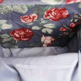 Retro estilo britânico Floral impermeável PVC lona Mochilas