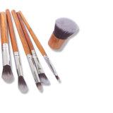 Escova de maquiagem Escova de fibra artificial Maçã de madeira natural 11PCS Embalagem de saco de cânhamo