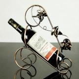Творческий одиночный держатель вина спирали бутылки - бронза