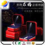 Leuchtender Ring-Kasten-kreativer Ohrring-Halsketten-Schmucksache-Kasten des hohen Grad-LED