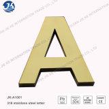 Signe de logo en métal de lettre de numéro de la Manche d'acier inoxydable