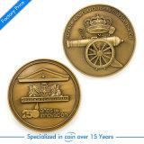 Pièce de monnaie faite sur commande militaire d'enjeu de souvenir avec le placage à l'or