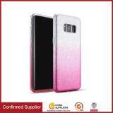 Farben-Funkeln-hybrider schützender Samsung-mobiler rückseitiger Deckel der Steigung-3-in-1