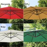 Parapluie imperméable à l'eau extérieur de banane du parasol 3m de jardin de s'arrêter et de Sun de patio