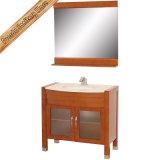 Fed-1076 Governo del bagno di legno solido di vanità della stanza da bagno della ciliegia dell'indicatore luminoso da 30 pollici