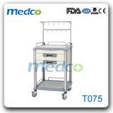 Chariot de soins infirmiers pour hôpitaux et traitement de l'acier inoxydable